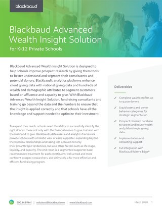 Blackbaud Advanced Wealth Insight Solution