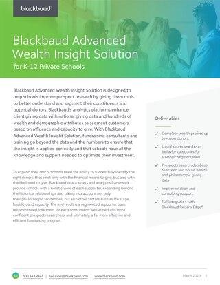 Blackbaud Advanced Wealth Insight Solution