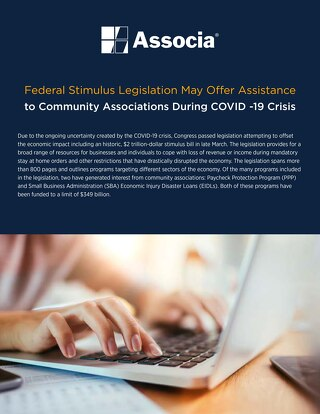 Federal Stimulus Legislation May Offer Assistance  to Community Associations During COVID-19 Crisis