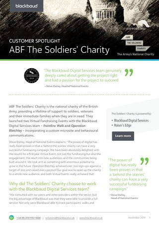 The British Army's National Charity Tripled Their Signups and Raised $30k: Here's How