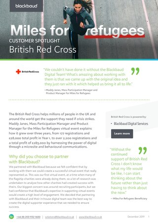 British Red Cross' Miles for Refugees Raised $280k+ with Virtual Events