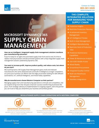 Dynamics 365 Supply Chain Management