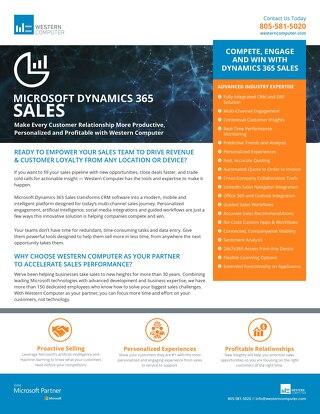 Dynamics 365 Sales