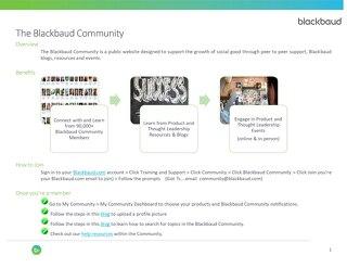 The Blackbaud Community
