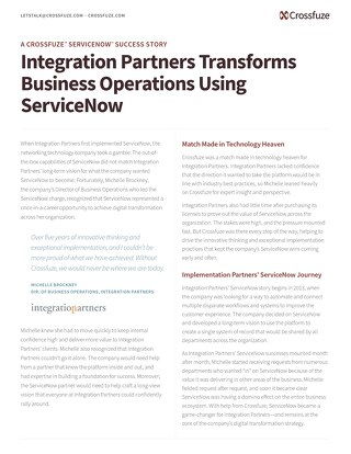 Crossfuze Case Study-IntegrationPartners