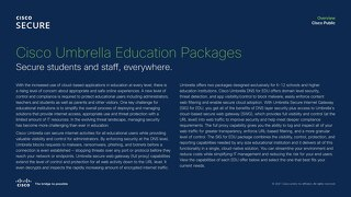 Cisco Umbrella Education Package Comparison