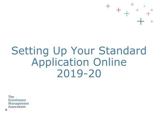 How to Setup Your Standard Application Online (SAO)