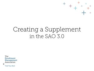 How to Create a Supplement