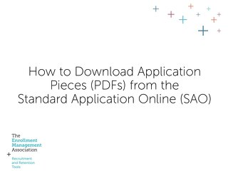 How to Download Application Pieces from the SAO