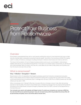 Protect Your Business from Ransomware
