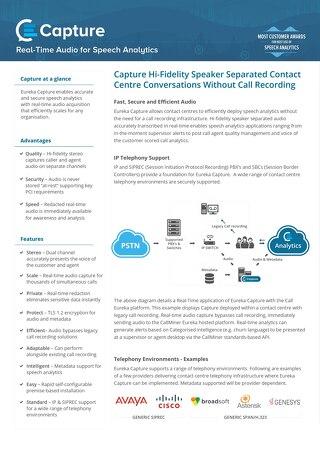 Capture Datasheet UK