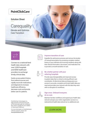 Carequality: Solution Sheet