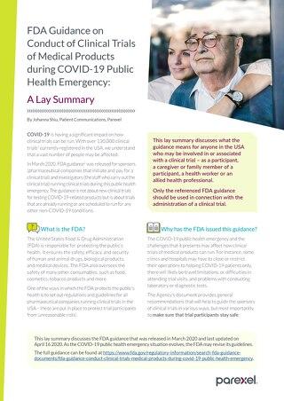 COVID-19 Lay Summary-FDA Conduct of Clinical Trials