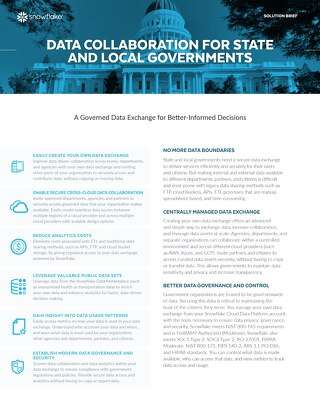 Data Collaboration for State and Local Governments