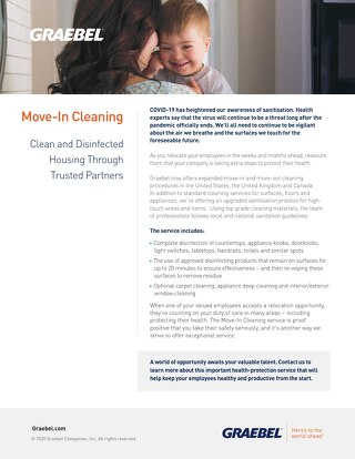 Graebel Move-in Cleaning Service - UK Version