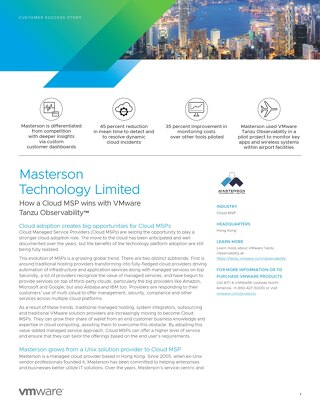 Case Study: Masterson Technology