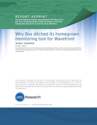 451 Group Analyst Report: Why Box Chose Wavefront