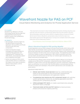 Datasheet: Wavefront Nozzle for PAS