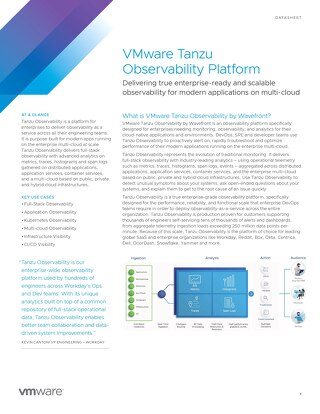 VMware Tanzu Observability Datasheet