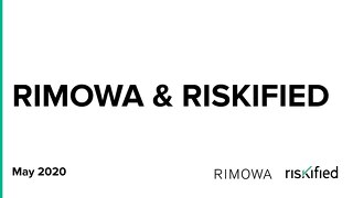 Rimowa - Riskified May 7th 2020