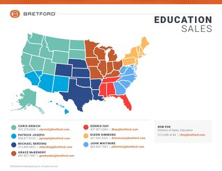 Bretford EDU Field Sales Map