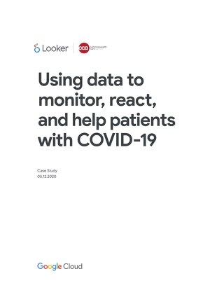 Commonwealth Care Alliance: Using data to monitor, react, and help patients with COVID-19