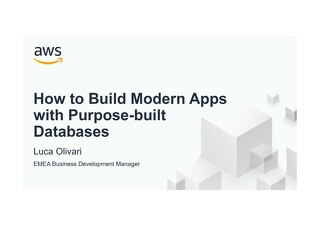 AWS How to Build Modern Apps