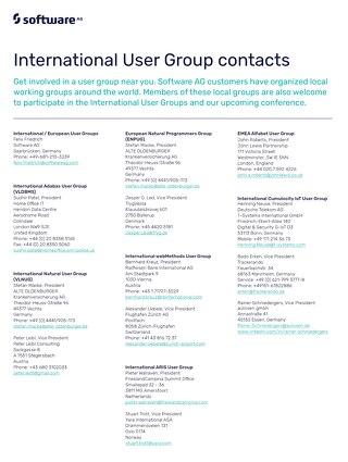 User group presidents