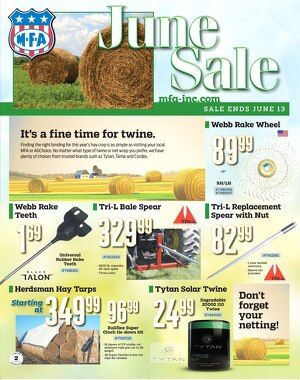Click to see our June sale flyer.