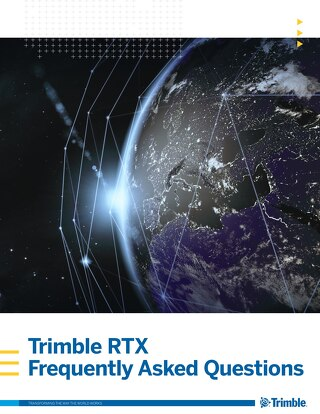Trimble RTX Frequently Asked Questions Brochure - English