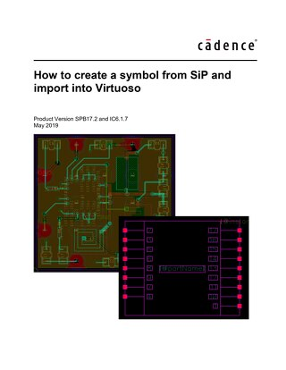 How to create a symbol from SiP and import into Virtuoso