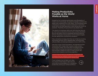 Making Productivity Possible as the World Works from Home - Lenovo