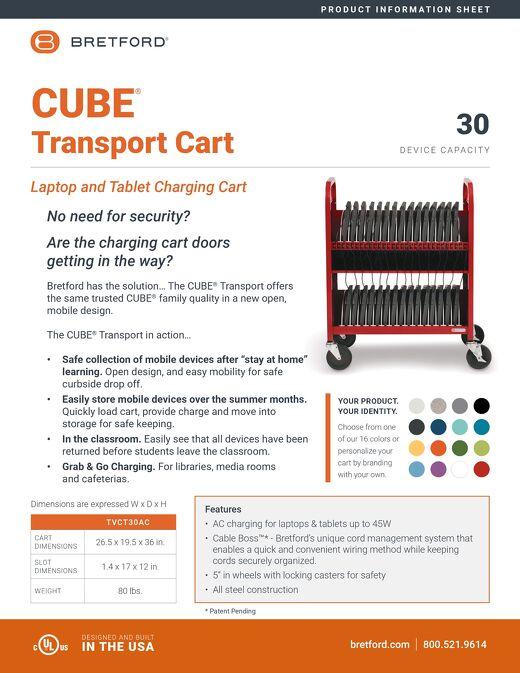 CUBE Transport Charging Cart Information Sheet