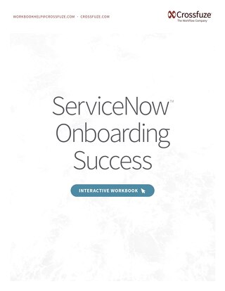 ServiceNow Onboarding Success Workbook