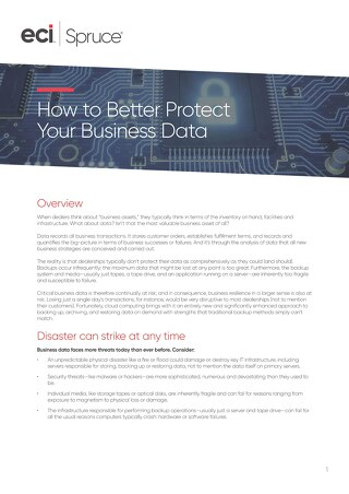 How to Better Protect Your Business Data Whitepaper