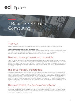 7 Benefits of Cloud Computing Whitepaper
