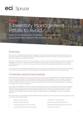 Five Inventory Management Pitfalls Whitepaper
