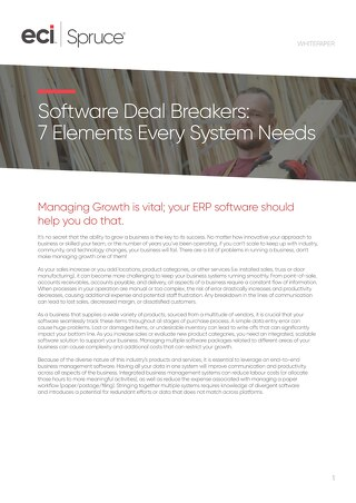 Software Deal Breakers Whitepaper