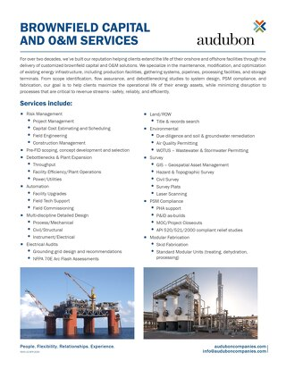 Brownfield Capital and O&M General Services
