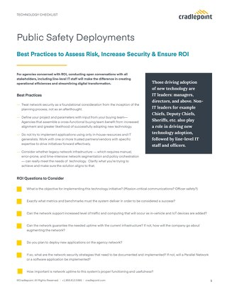 Public Safety Deployment Checklist
