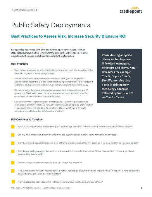 Public Safety Deployment Checklist