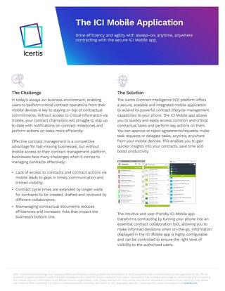 ICI Mobile App