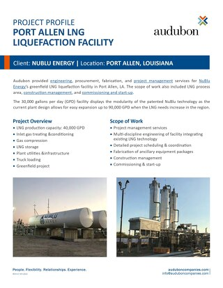 Port Allen LNG Liquefaction Facility