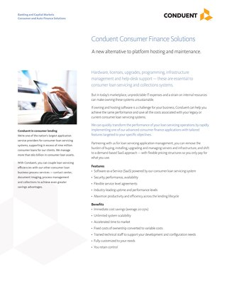 Consumer Finance Solutions