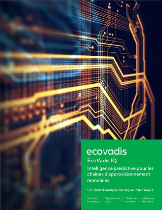 EcoVadis IQ : Intelligence prédictive pour les chaînes d'approvisionnement mondiales