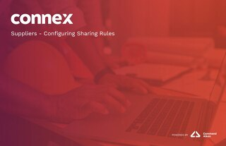 Suppliers - How to Configure Sharing Rules