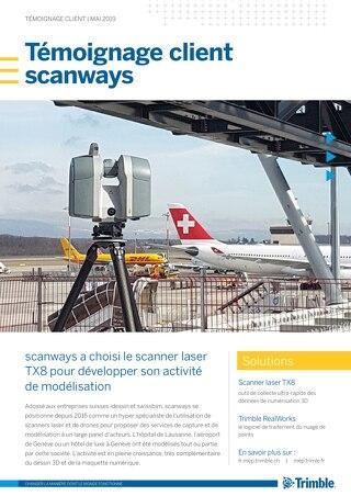 Scanways a choisi le scanner laser TX8 pour développer son activité de modélisation