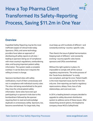 How Celgene Transformed Its Safety-Reporting Process, Saving $11.2 Million in One Year