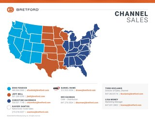 Channel Team Sales Map