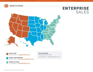 Bretford ENT Team Sales Map